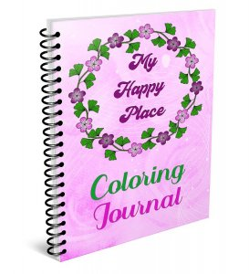 Happy Place Coloring Journal