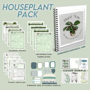 Houseplants Printables Template Pack