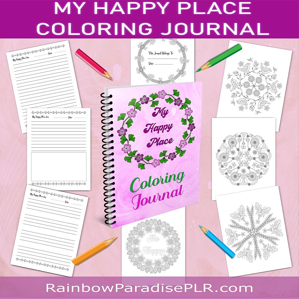 My Happy Place Coloring Journal