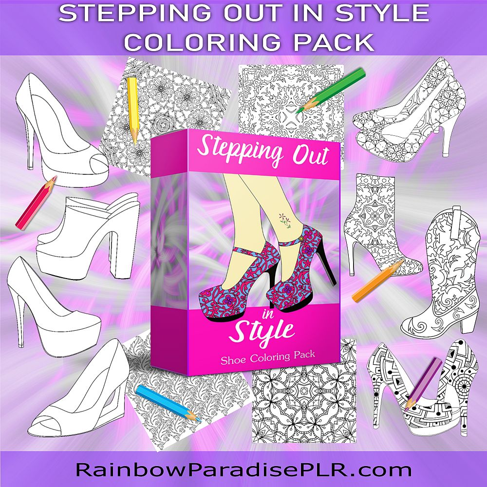 Stepping Out in Style Shoe Coloring Pack