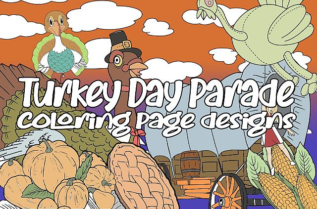 Fun Thanksgiving Themed Coloring Pages PLR Content