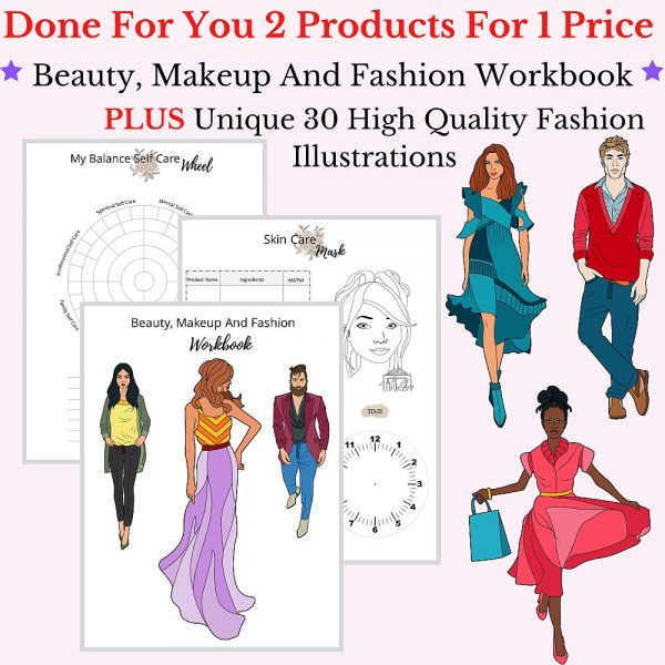 Beauty and Fashion Coloring Bundle