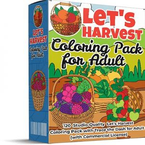 Let's Harvest Coloring Pack for Adults